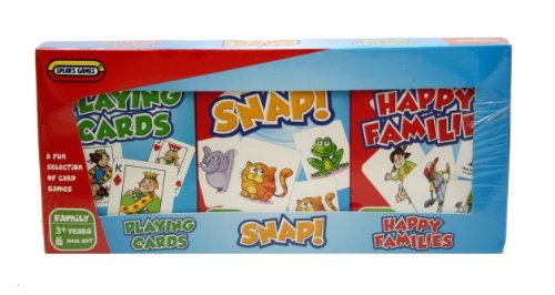 Triple Card Game Pack - Snap Happy Families Playing Cards by Spears Games