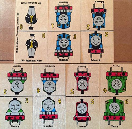 1991 Britt Allcroft Thomas the Tank Engine Wooden Domino Game Set