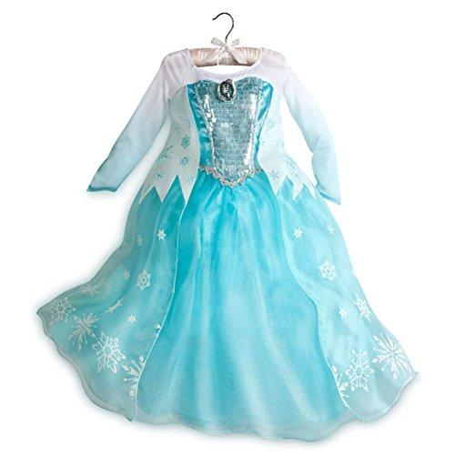Disney Store Frozen Elsa Big Girl Costume Dress Size 78