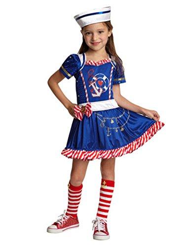 Goodmark Girls Sailor Girl Costume with Dress Hat S 4-6