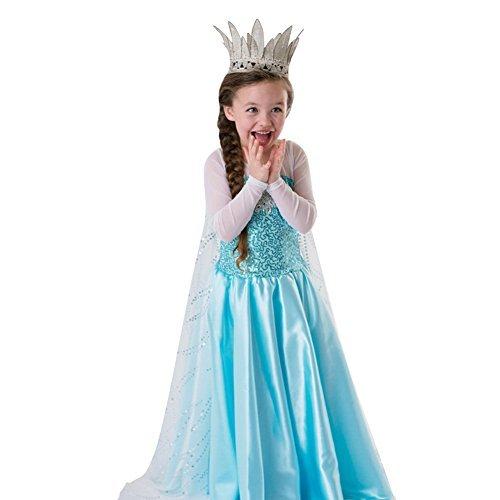 LoelInspired Snow Queen Girl Costume Dress 2-3years Size 2-3years Model