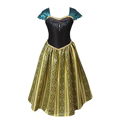 TIAOBU Girls Princess Floral Party Cosplay Costume Dress Halloween Xmas Clothing 5-6