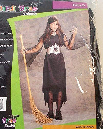 Vampire Black Dress Girls Costume Dress S 4-6 NIP