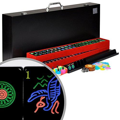 Full American  Western Mahjong  Mah Jongg Set with Black Tiles Jet Set