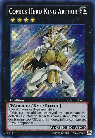 Yu-Gi-Oh - Comics Hero King Arthur NUMH-EN041 - Number Hunters - Unlimited Edition - Secret Rare