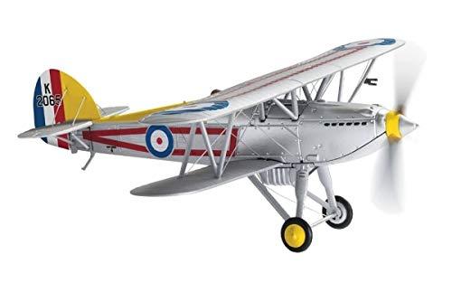 Corgi Diecast Hawker Fury MK I C Flight Leaders Aircraft 100 Years of The RAF 172 Military Aviation Display Model AA27304