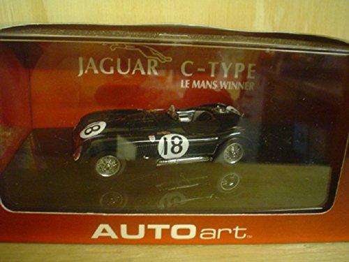Jaguar C-Type 18 1953 Le Mans Winner TRoltDHamilton 143 Autoart Diecast Car Model
