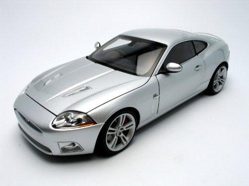 Jaguar XKR Coupe Silver 118 AutoArt Diecast Model by AUTOart