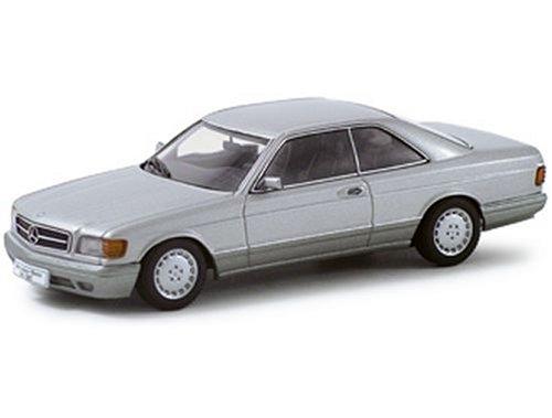 Mercedes 500 SEC W126 Silver Metallic 143 Autoart Diecast Car Model 56212