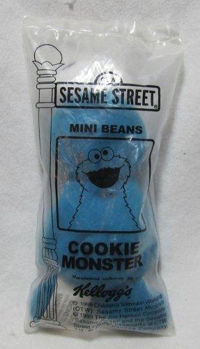 Sesame Street Kelloggs 1999 Mini Bean Bag Cookie Monster Plush Toy