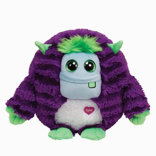 Ty INC Monstaz Frankie the Purple Green Monster 5 Plush Toy