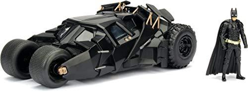 Jada Toys DC Comics 2008 The Dark Knight Batmobile with Batman Figure 124 Scale Metals Die-Cast Collectible Vehicle
