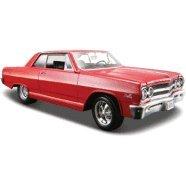 1965 Chevrolet Malibu SS Red 124 Diecast Model Car