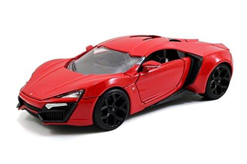 Jada Toys Fast Furious Lykan Hypersport 124 Diecast Vehicle Red
