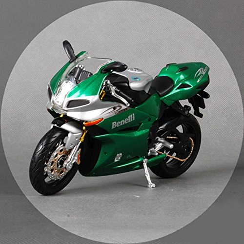 112 Childrens Benelli tomado 1130 green metal diecast models motorbike miniature racing car moto collectible kids toys