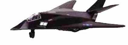 8 F-117 Nighthawk Stealth Strike Fighter Pull Back Action Metal Diecast Plane