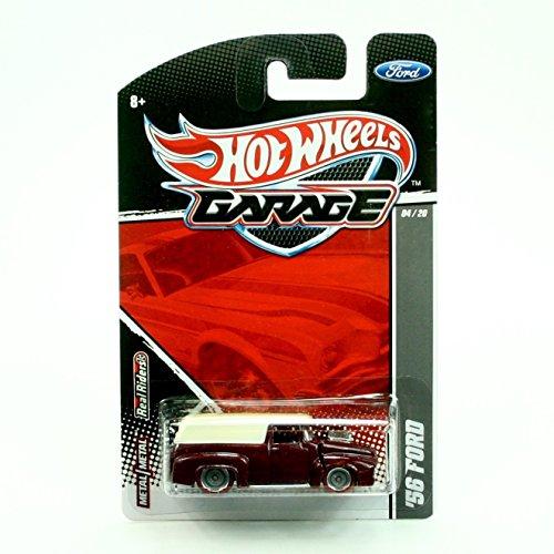 56 Ford Metallic Maroon White  2011 Hot Wheels Garage  164 Scale Die-Cast Vehicle Ford 0420