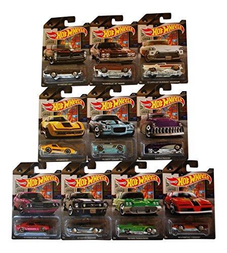 Hot Wheels Garage Bundle - 10 Cars - 2016