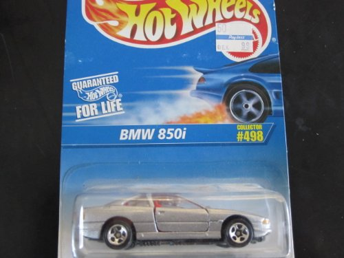 BMW 850i Silver W5 Spoke Wheels Hot Wheels Collector 498 on Blue&white Card