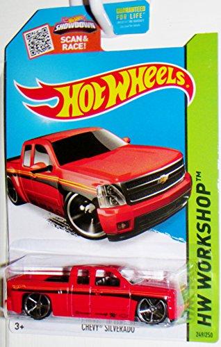 Hot Wheels 2015 HW Workshop Chevy Silverado Red Die-Cast Vehicle 249250