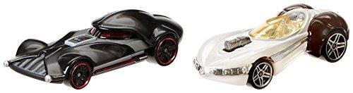 Hot Wheels Star Wars Character Car 2-Pack Darth Vader vs Princess Leia