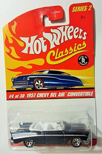 1957 Chevy BEL AIR Convertible Black 2005 Hot Wheels Classics 164 Scale Series 2 Die Cast Vehicle