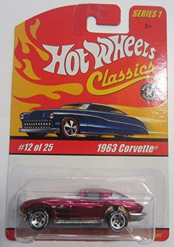 Hot Wheels Classics Series 1 - Magenta 1963 Corvette 12 of 25