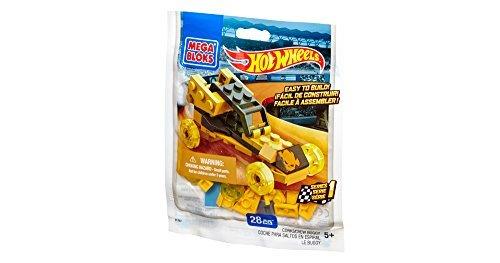 Mega Bloks Hot Wheels Series 1 Corkscrew Buggy 91767 -28 pcs