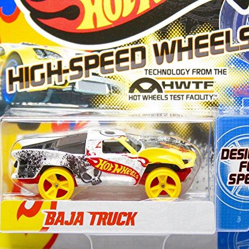 Team Hot Wheels High-Speed Wheels Baja Truck WhiteYellow
