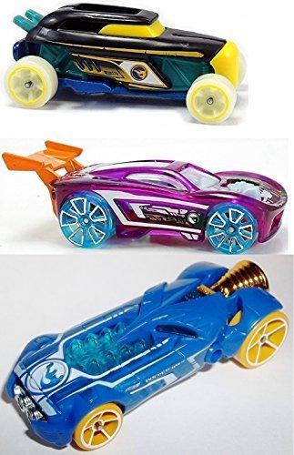Treasure Hunt Hot Wheels 3 Car Set Rip Rod Paradigm Shift Rocketfire Glow X-Racers Series