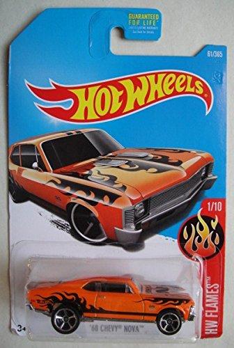 Hot Wheels 2017 HW Flames 68 Chevy Nova Orange 61365