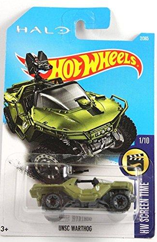 Hot Wheels 2017 HW Screen Time Halo UNSC Warthog Green 2365