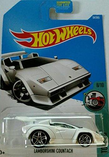 Hot Wheels 2017 Tooned Lamborghini Countach White 54365