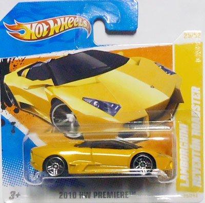 Hot Wheels 2010 Lamborghini REVENTON Roadster Dark Yellow 25274 HW Premiere 2552 Short Card