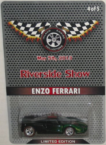 ENZO FERRARI Hot Wheels Official Riverside Show CUSTOM Enzo with Real Rider Wheels Limited Edition 164 Scale Collectible Die Cast Car Model Only - 5 Made