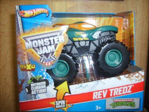Hot Wheels Monster Jam Rev Tredz Teenage Mutant Ninja Turtles 143 Scale