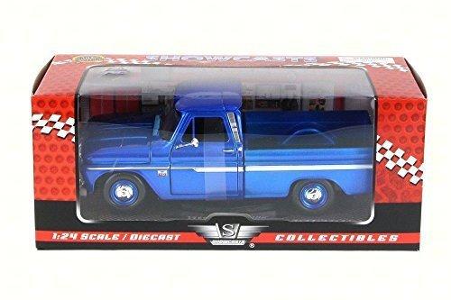 1966 Chevy C10 Fleetside Pickup Truck Dark Blue - Motormax 73355 - 124 scale Diecast Model Toy Car by Motor Max