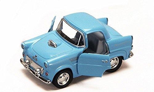 1955 Ford Thunderbird Blue - Kinsmart 4022D - 4 Diecast Model Toy Car Brand New but NO BOX