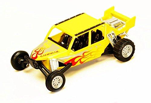 Turbo Sandrail Yellow - Kinsmart 5256D - 5 Diecast Model Toy Car Brand New but NO BOX
