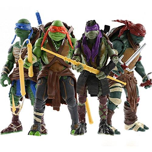 2014 Hot 4pcsLot Teenage Mutant 5 Action Figure TMNT Toys