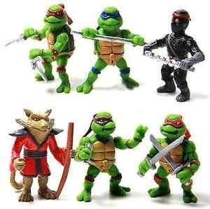 6pc Teenage Mutant Ninja Turtles TMNT Action Figures Collection Toy Set Boy Gift