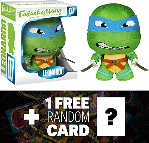 Leonardo Funko Fabrikations x TMNT Figure  1 FREE Official classic TMNT Trading Card Bundle 43216