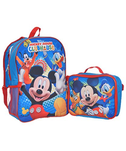 Mickey Mouse Clubhouse Fun Backpack with Lunchbox - bluemulti one size