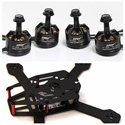 iFLYÂ DIY Kit iFLY H150mm Mini Full 3K Carbon Fiber FPV Quadcopter FramePCB4pcs iFLYÂ IF1806 2300KV Brushless Motor
