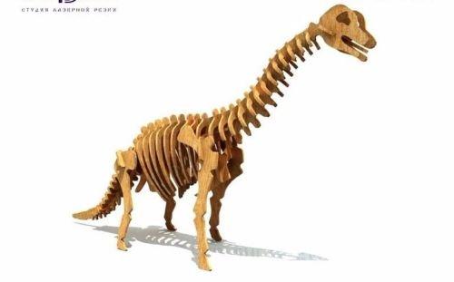 Brachiosaurus Dinosaur 3D Woodcraft Hobby Wooden Model Laser Cut Puzzle Kit