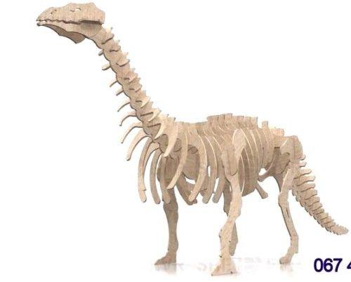 Certop Dinosaur 3D Woodcraft Hobby Wooden Model Laser Cut Puzzle Kit