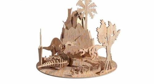 Jurassic Period Dinosaur 3D Woodcraft Hobby Wooden Model Laser Cut Puzzle Kit