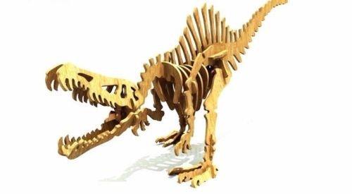 Spinozavr Dinosaur 3D Woodcraft Hobby Wooden Model Laser Cut Puzzle Kit