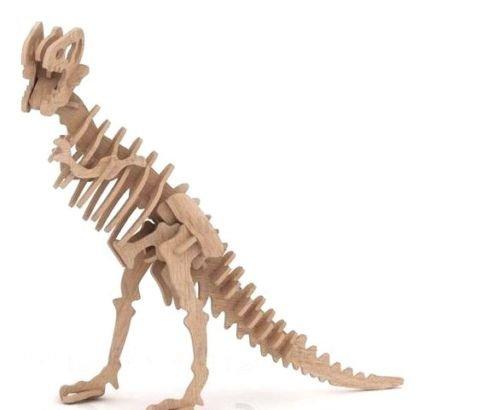 Tiranozavr Dinosaur 3D Woodcraft Hobby Wooden Model Laser Cut Puzzle Kit