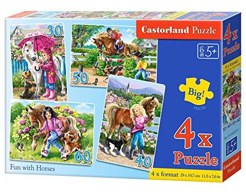 Castorland 4 Fun with Horses Jigsaw Premium Puzzle